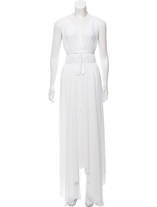 Norma Kamali Sleeveless Maxi Dress White