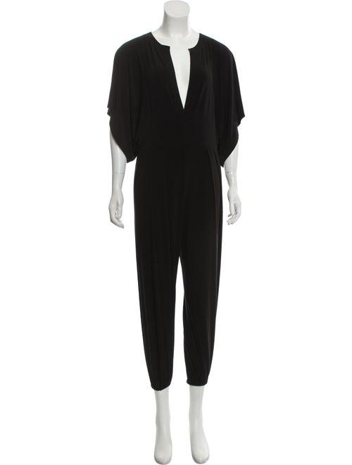 Norma Kamali Short Sleeve Jumpsuit Black