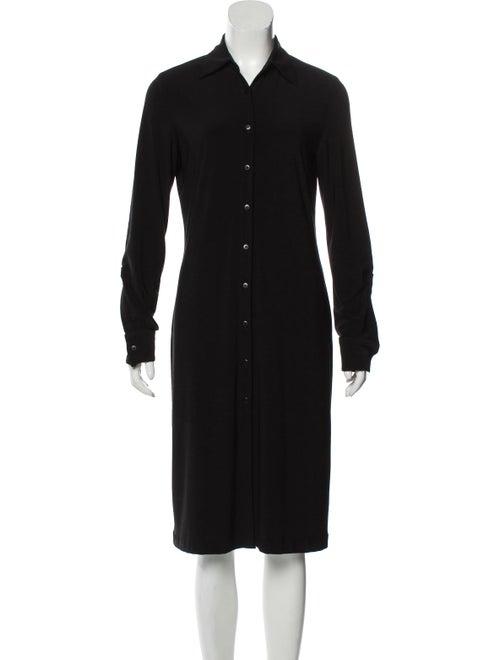 Norma Kamali Long Sleeve Midi Dress Black