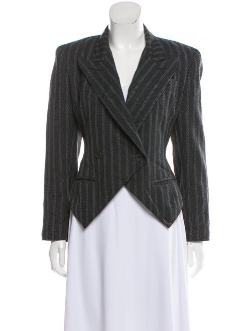 Norma Kamali Striped Blazer Grey