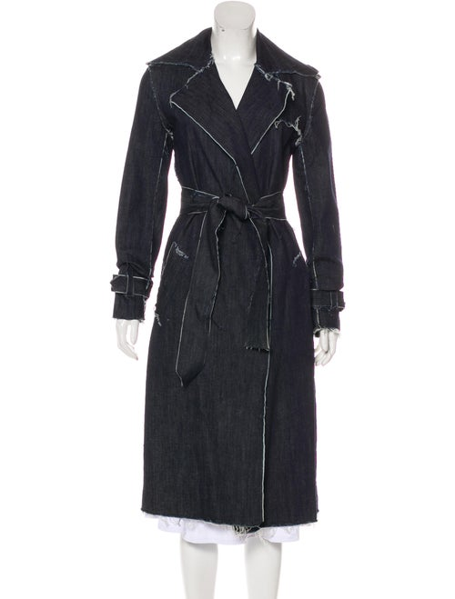 Norma Kamali Trench Coat w/ Tags Blue