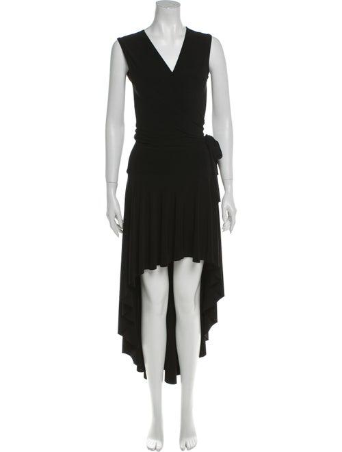 Norma Kamali V-Neck Long Dress Black
