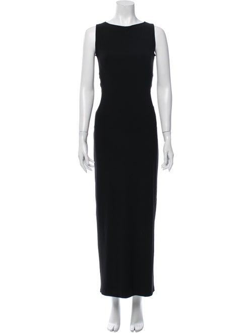 Norma Kamali Bateau Neckline Long Dress Black