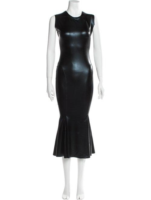 Norma Kamali Crew Neck Long Dress Black