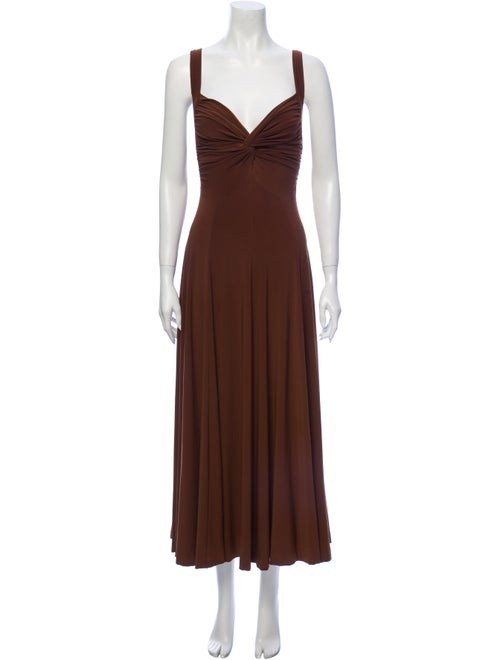 Norma Kamali Dress Set Brown