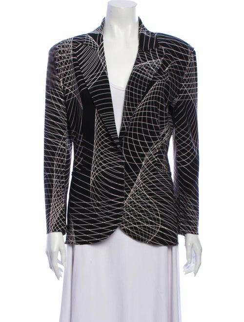 Norma Kamali Printed Blazer w/ Tags Black