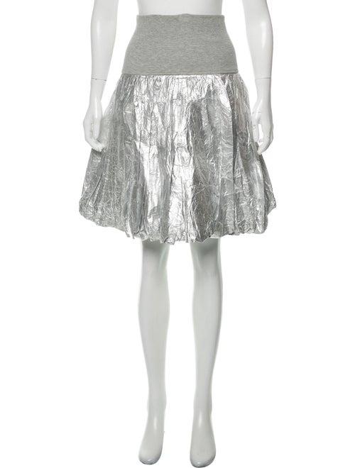 Norma Kamali Knee-Length Skirt Silver