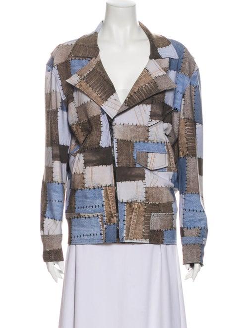 Norma Kamali Printed Jacket Blue