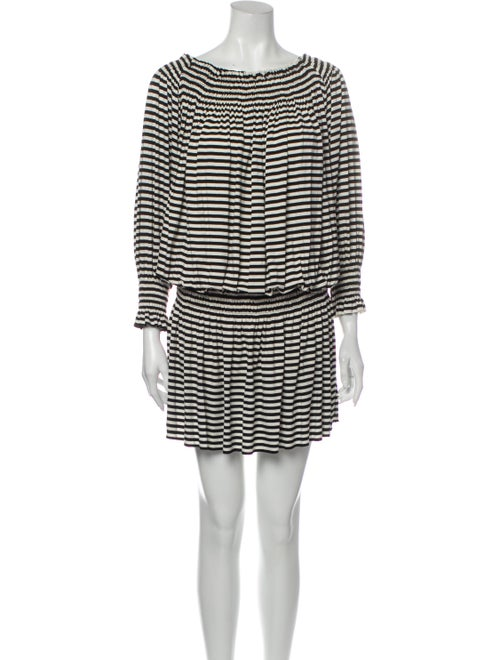 Norma Kamali Striped Mini Dress