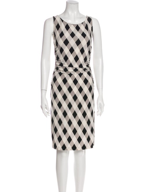Norma Kamali Printed Knee-Length Dress White