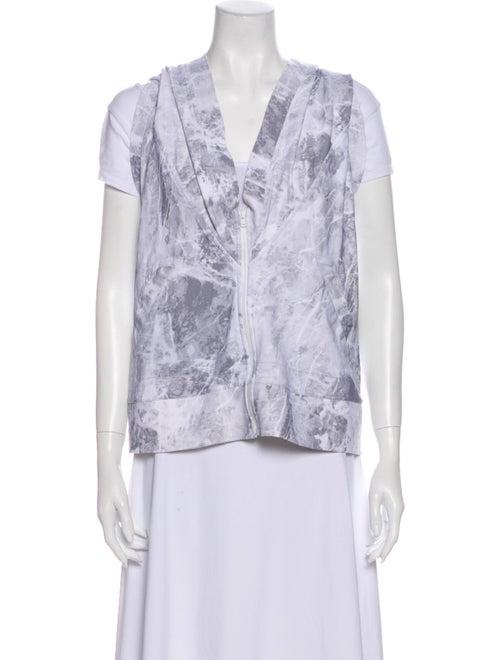 Norma Kamali Printed Vest Grey