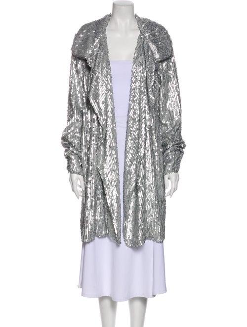 Norma Kamali Printed Jacket Silver