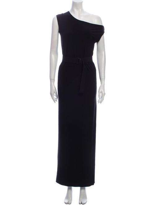 Norma Kamali One-Shoulder Long Dress Black