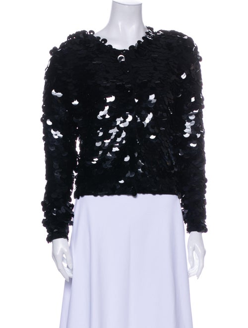 Norma Kamali Lambswool Scoop Neck Sweater Black