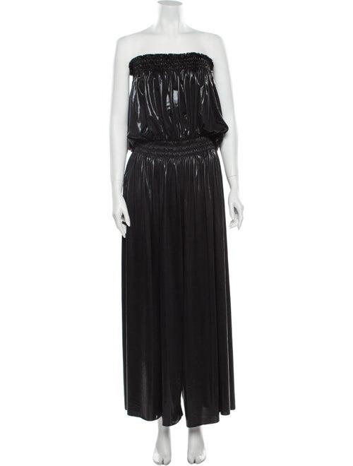 Norma Kamali Strapless Jumpsuit Black