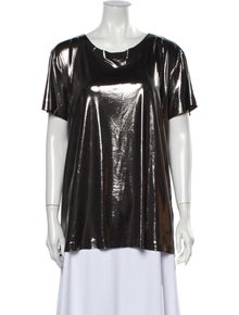 Norma Kamali Scoop Neck Short Sleeve T-Shirt