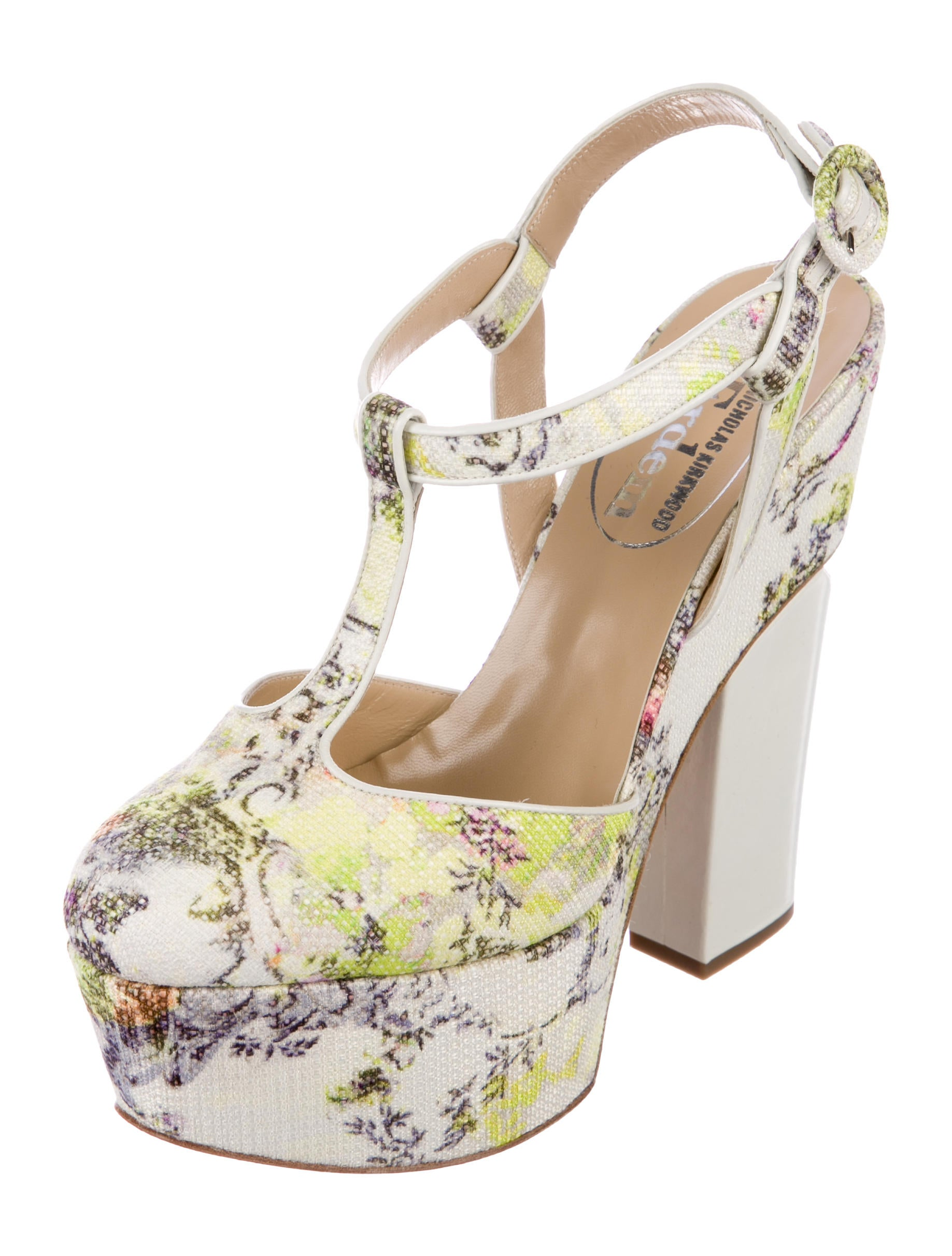 Nicholas Kirkwood x Erdem Chinon-Print Platform Pumps wide range of online free shipping authentic free shipping pay with paypal genuine sale online clearance pictures mdmg8pF