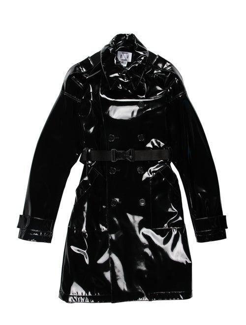 Nomenklatura Studio 2019 Latex Trench Coat black