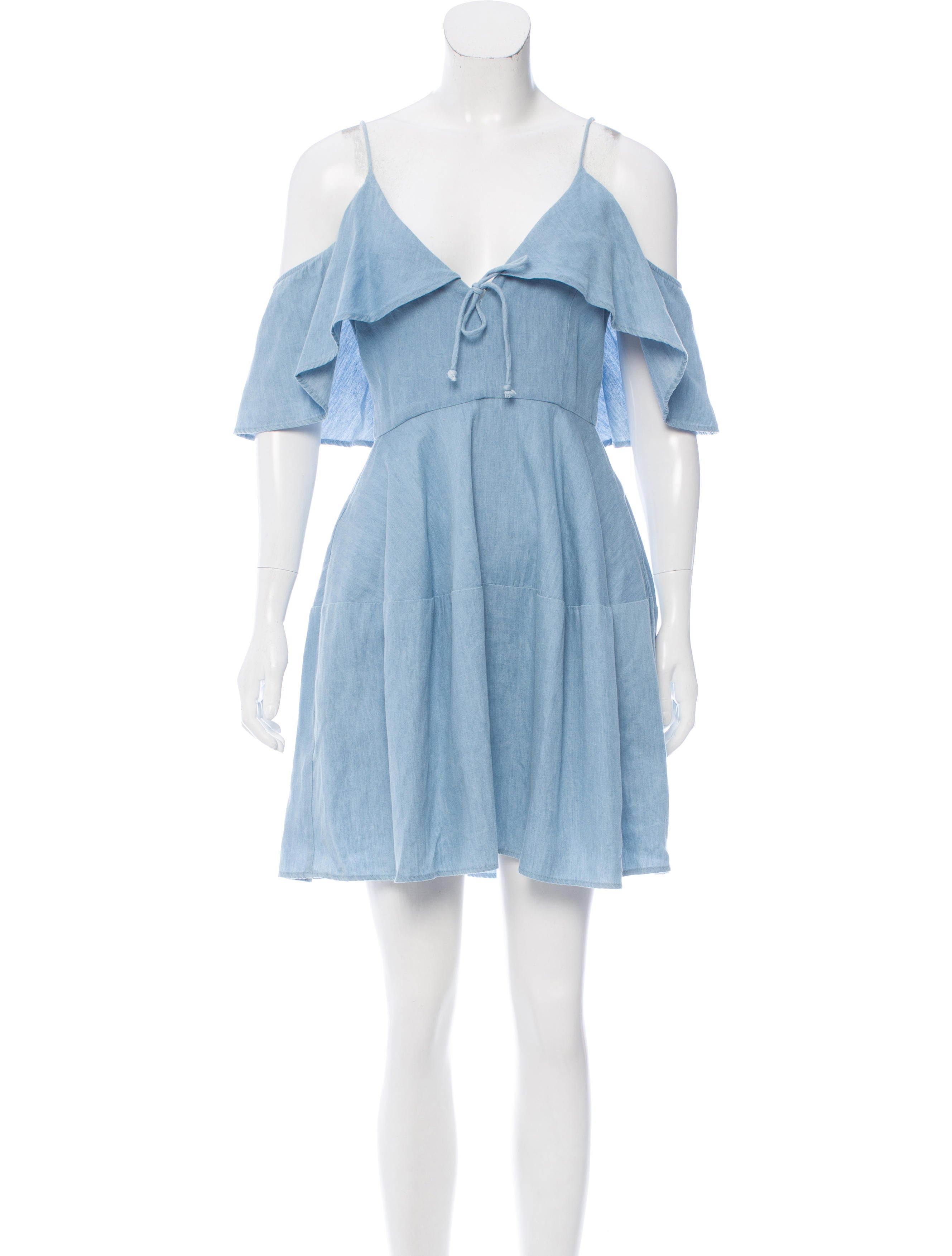 dc861a083d N   Nicholas Denim Mini Dress - Clothing - WNNIC20164