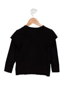 Nununu Boys' Graphic Printed Long Sleeve Shirt