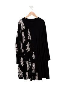 Nununu Girls' Printed Long Sleeve Dress