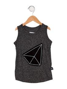 Nununu Boys' Sleeveless Embroidered Shirt w/ Tags