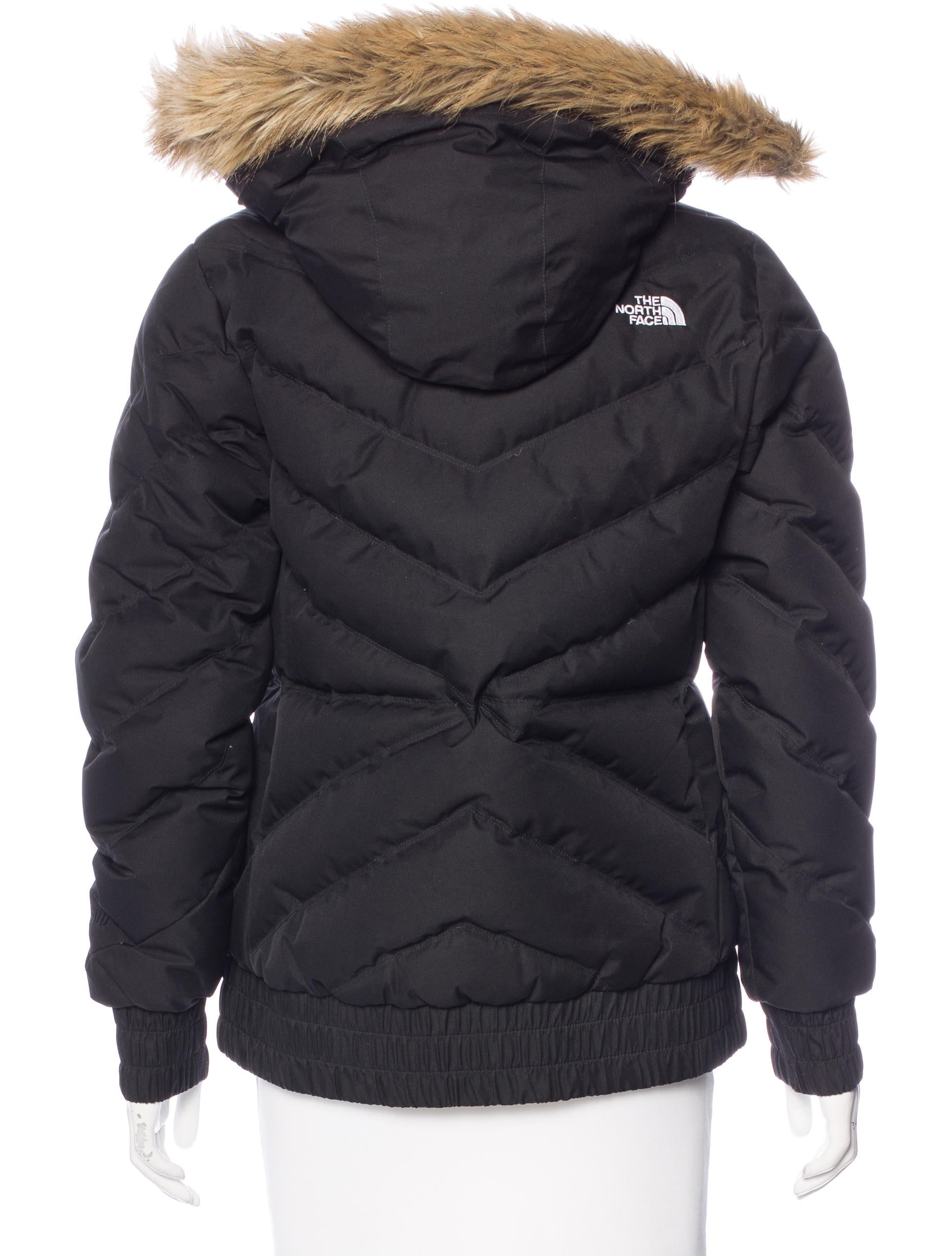 The North Face Faux Fur Accented Puffer Jacket Coats