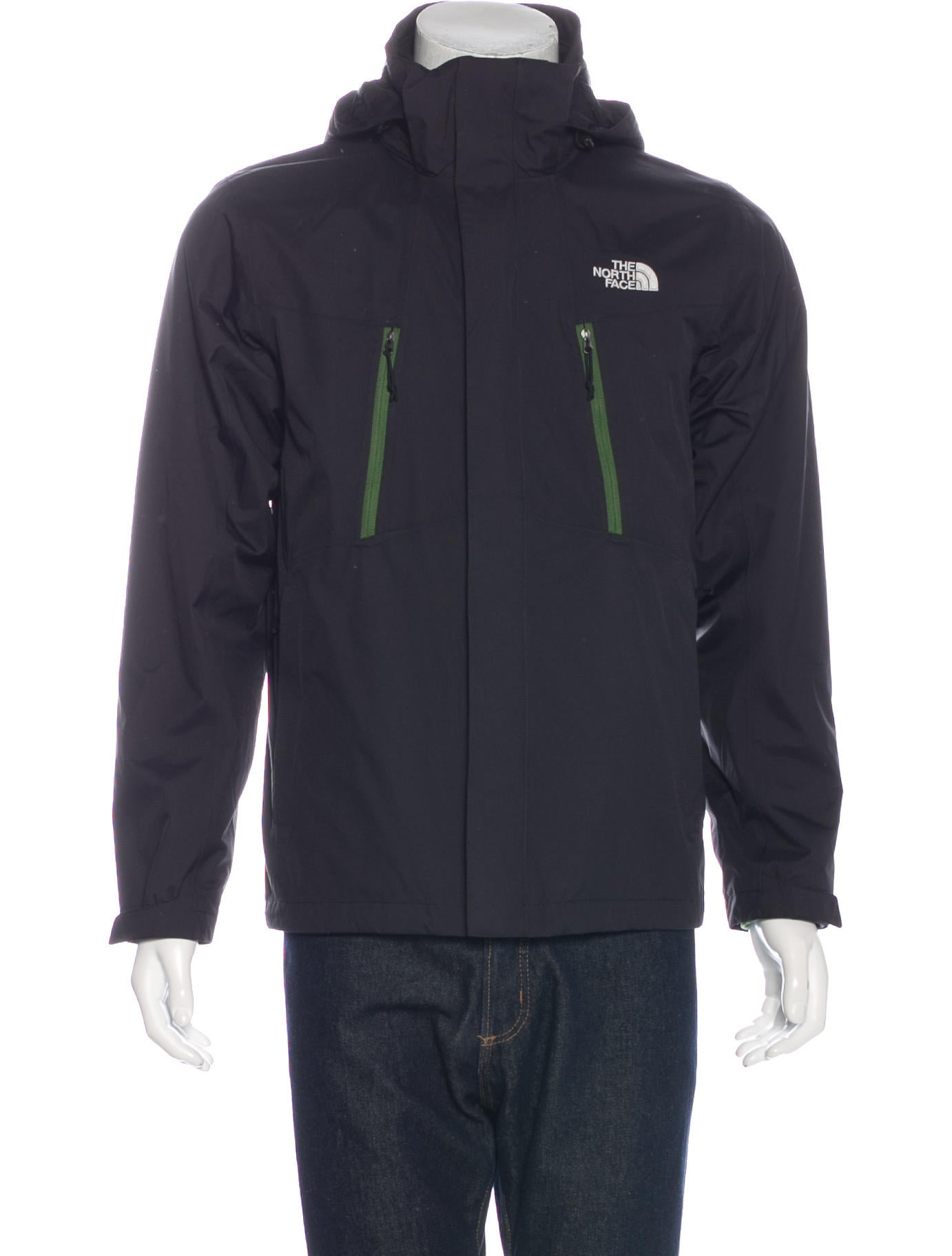 the north face hyvent zip up jacket clothing wnorh20724 the realreal. Black Bedroom Furniture Sets. Home Design Ideas