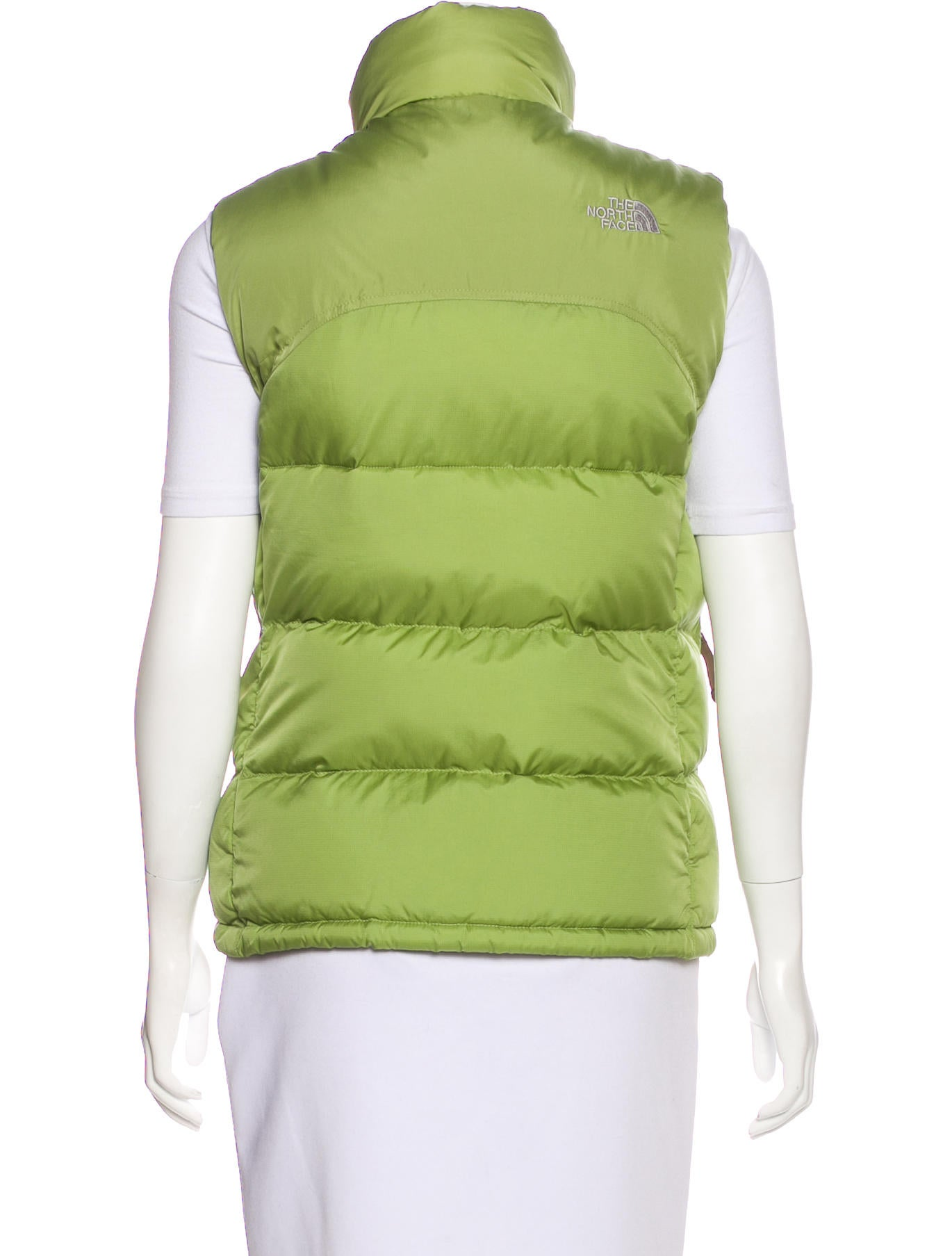 The North Face Zip Up Puffer Vest Clothing Wnorh21155