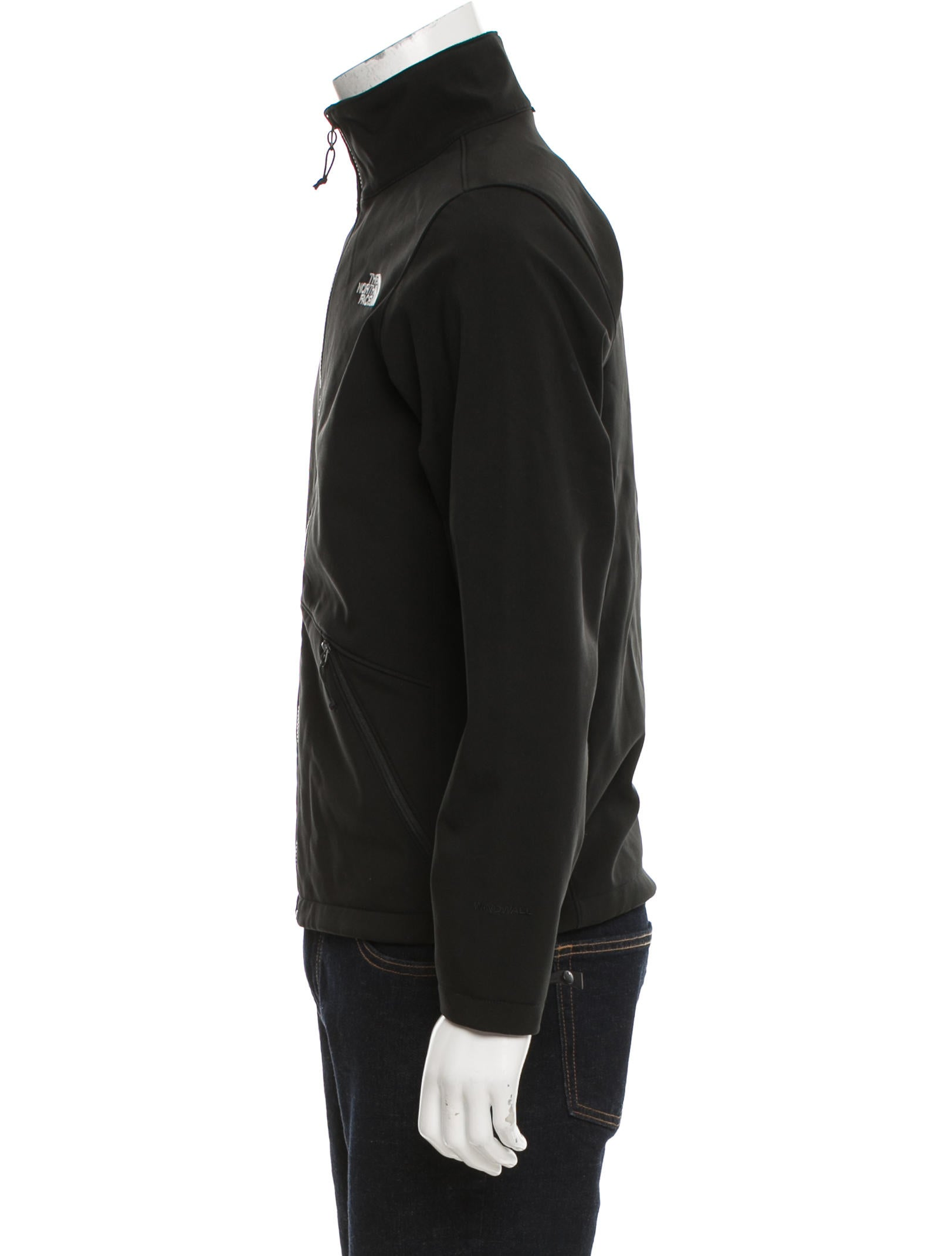 The north face embroidered logo jacket clothing
