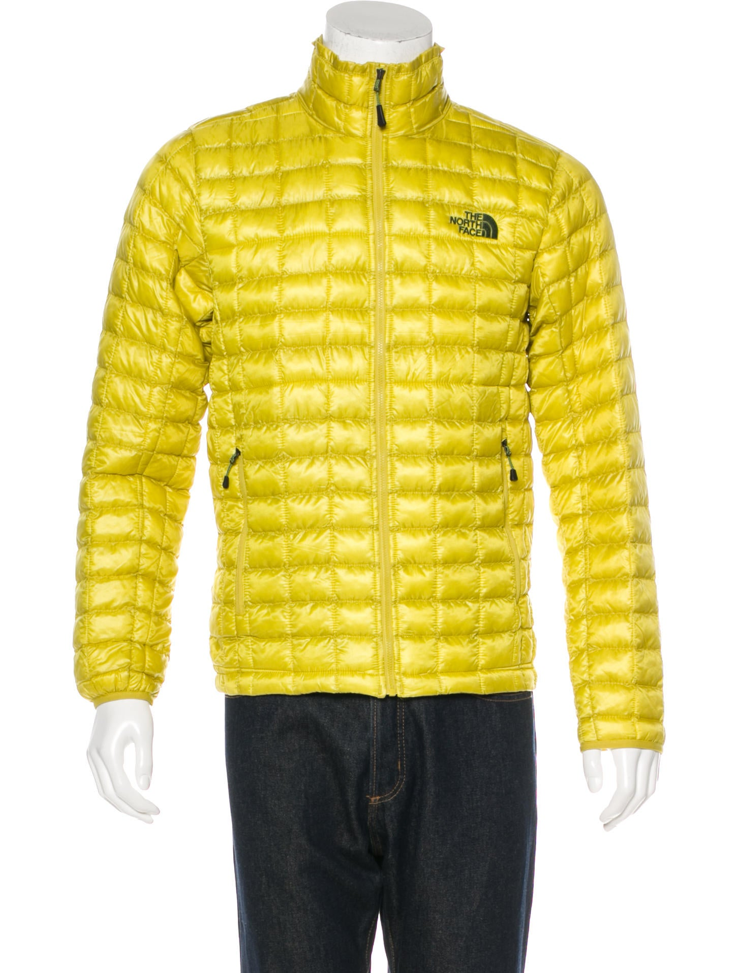 The north face logo embroidered puffer jacket jackets