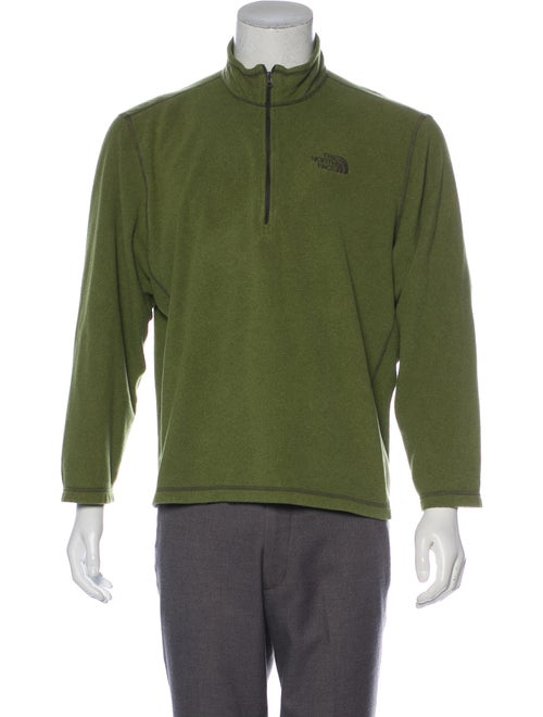 The North Face Embroidered Fleece Sweater olive