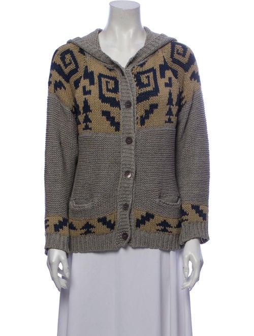 November Silk Printed Sweater Blue