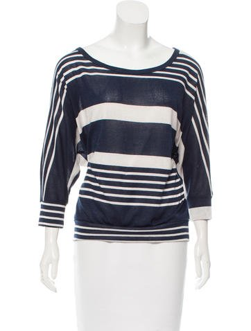 Needle & Thread Striped Pattern Knit Top None