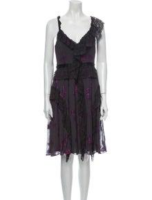Needle & Thread Floral Print Mini Dress