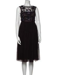 Needle & Thread Bateau Neckline Midi Length Dress w/ Tags