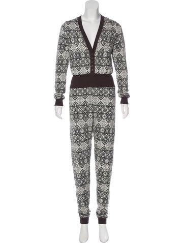 Nightcap Patterned Knit Jumpsuit None