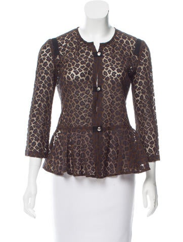 Roseanna Embroidered Button-Up Top None
