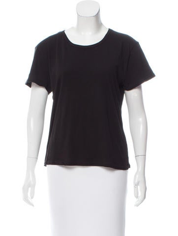 Organic by John Patrick Short Sleeve Scoop Neck T-Shirt None