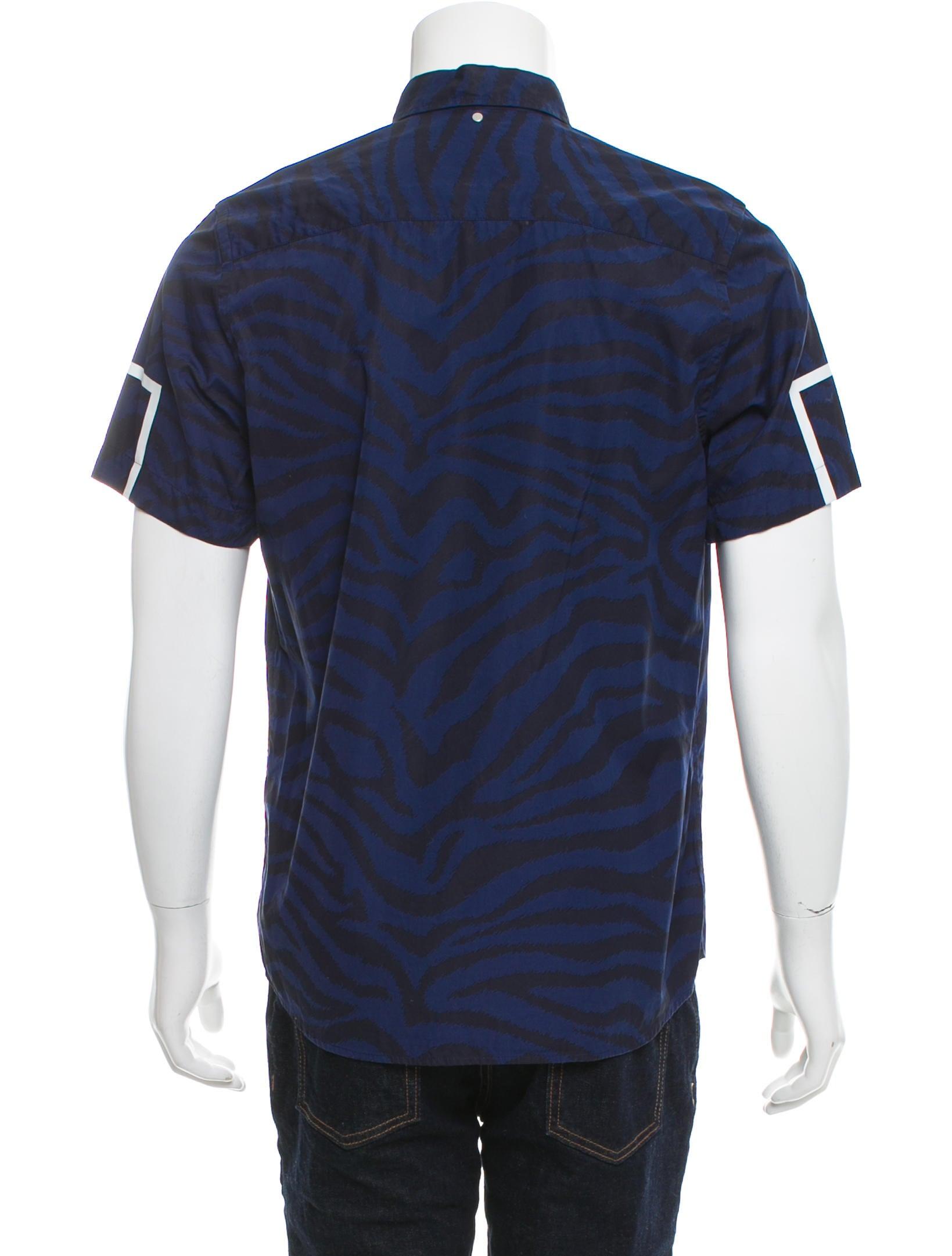 Oamc striped button down shirt clothing woamc20036 for Striped button down shirts for men