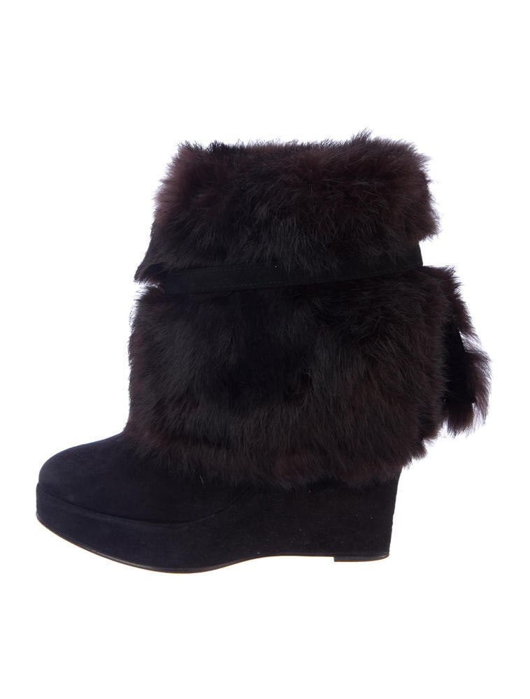 Opening Ceremony Fur Wedge Ankle Boots clearance order usYVtoIxLk