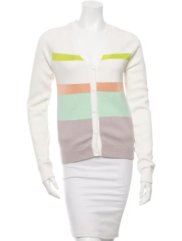 Opening Ceremony Striped Long Sleeve Cardigan None