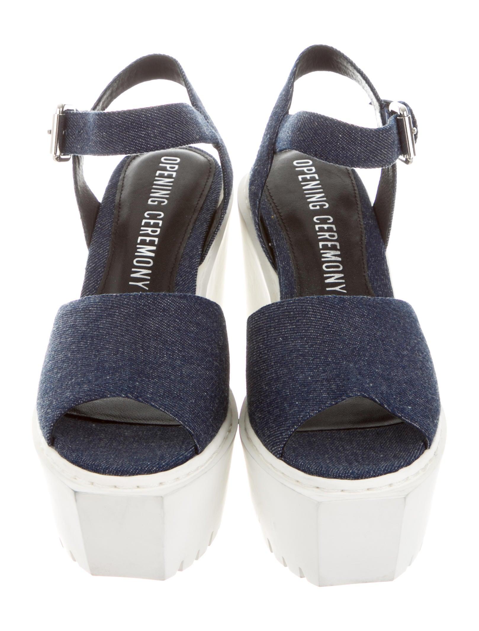 opening ceremony denim platform sandals shoes woc23104