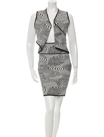 Opening Ceremony Cutout Patterned Dress w/ Tags None
