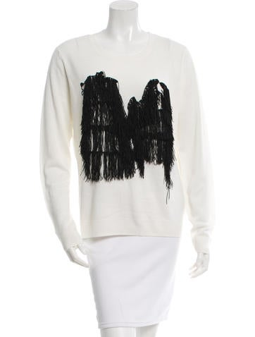 Opening Ceremony Fringe Crew Neck Sweater w/ Tags