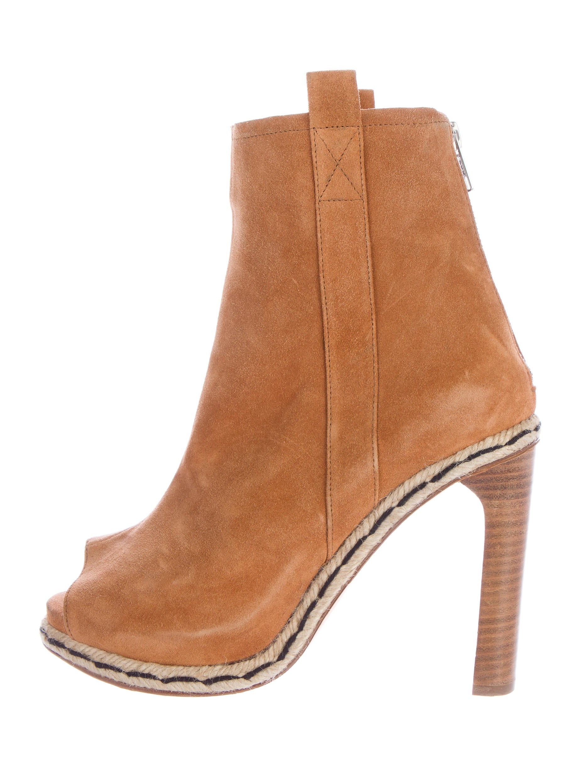 opening ceremony suede peep toe ankle boots shoes