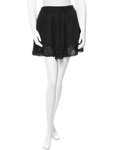Opening Ceremony Black Knit Skirt None