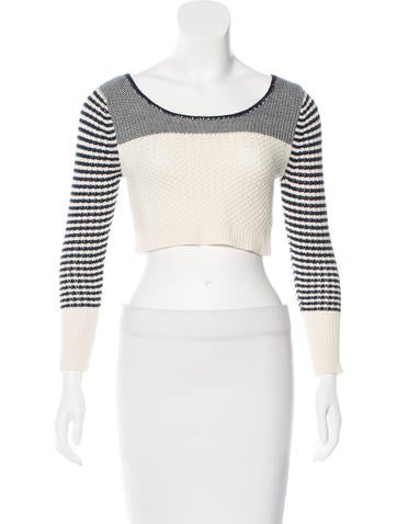 Opening Ceremony Cropped Basket Weave Sweater None