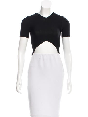 Opening Ceremony Rib-Knit Crop Top w/ Tags None