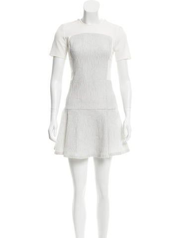 Opening Ceremony Textured-Accented Mini Dress w/ Tags None